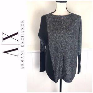 Armani Exchange Mixed Fabric Oversized Sweater